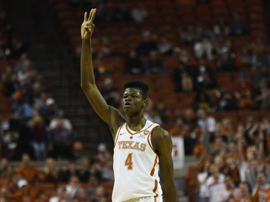 Mohamed Bamba reacts during a game against the Iowa State Cyclones.