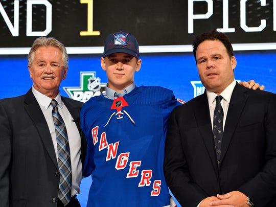 No. 28: D Nils Lundkvist, New York Rangers