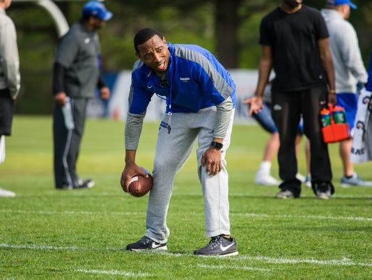 Memphis defensive backs coach TJ Rushing