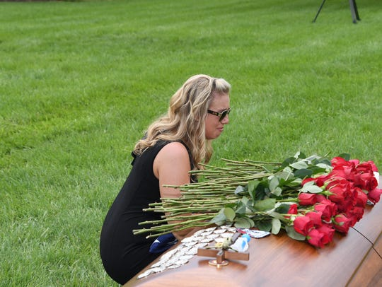 Angela Drzewiecki, the widow of the late Air Force