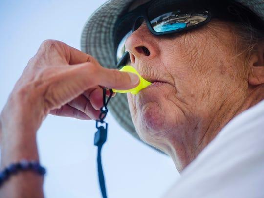 Leslie Botts, 70, recently got her lifeguard certification