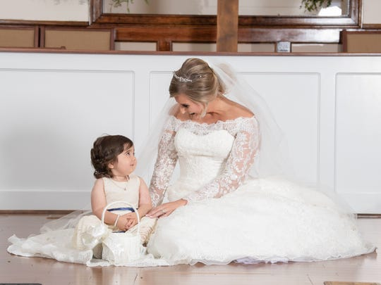 Hayden Ryals asked Skye Savren-McCormick, 3, of Ventura, to serve as her flower girl. Ryals gave her bone marrow to help in Skye's fight against leukemia.