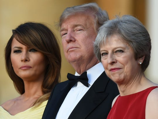 First lady Melania Trump, President Donald Trump and
