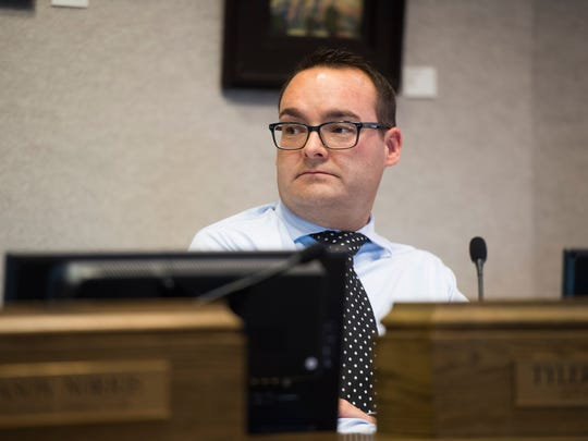 City Attorney Tyler Romeril at the Cedar City council