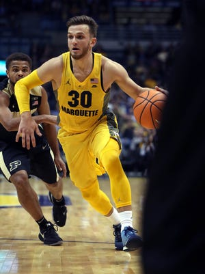 Andrew Rowsey is Marquette's leading scorer at 24 points per game.