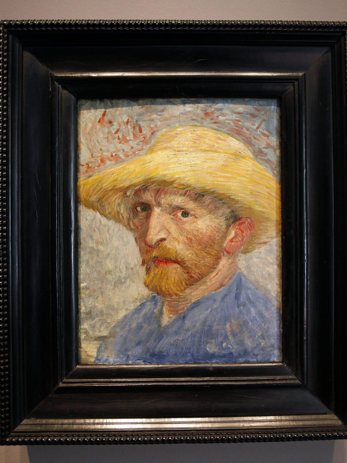 """""""Self Portrait"""" by Vincent van Gogh at the Detroit"""