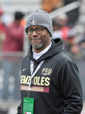 Former Florida State coach Willie Taggert is pictured before the game at the 2017 Independence Bowl. Taggert, who was fired Nov. 3 a day after a 27-10 Seminoles loss to the University of Miami, will receive a buyout of around $18 million.
