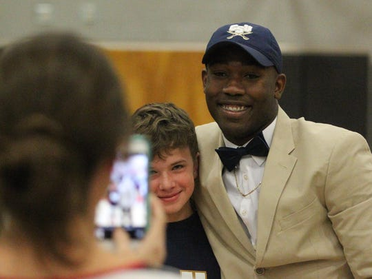 NFC running back and defensive back Terrell Powell signed with Charleston Southern on Wednesday.