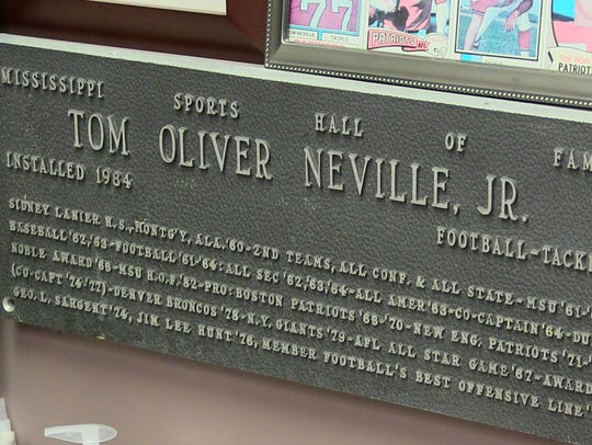 Tom Neville was named to the Mississippi Sports Hall