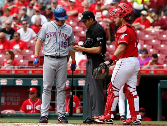 USP MLB: NEW YORK METS AT CINCINNATI REDS S BBN CIN NYM USA OH