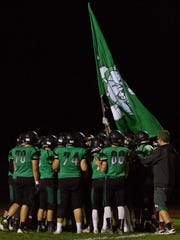 The Virgin Valley football team prepares to take the field against Mojave.