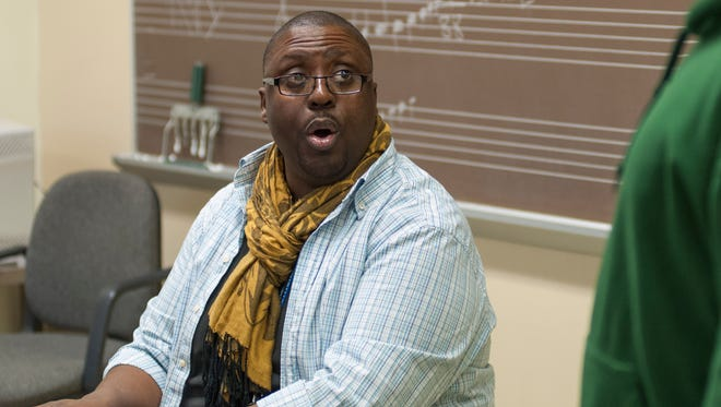 Singer and Kellogg Community College teacher Gerald Blanchard in 2014.