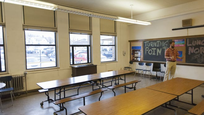 A room in the former W.K. Kellogg Middle School was used by Turning Point Academy for troubled 6th- through 8th-graders in 2014.