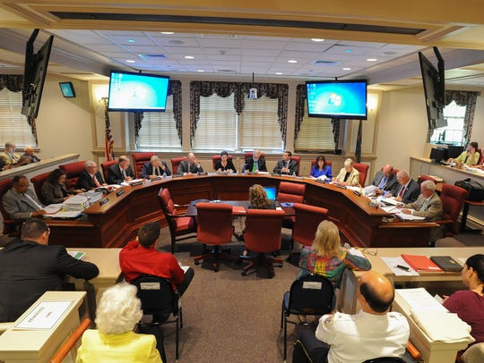 The Delaware Joint Finance Committee meets in 2015.