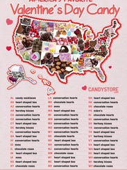The most popular Valentine's Day candies by state.