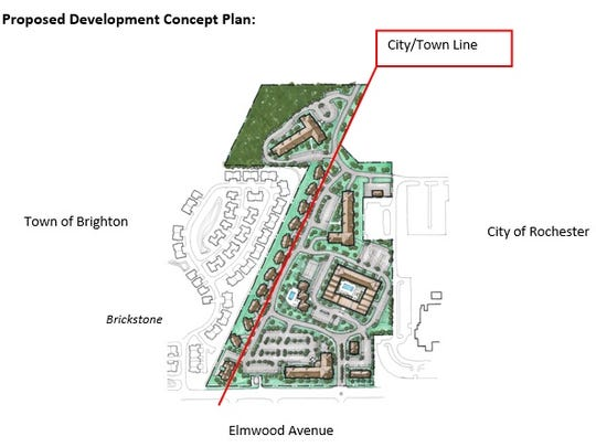 An early site plan for the proposed redevelopment of the Terrence Building site.
