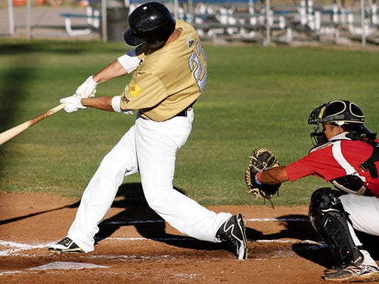 Will Dupont hits a two-run homer Thursday at the Griggs Sports Complex.