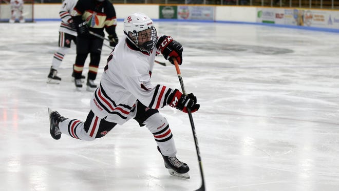 SPASH's Barrett Brooks has recorded 14 goals and 24 assists this season.