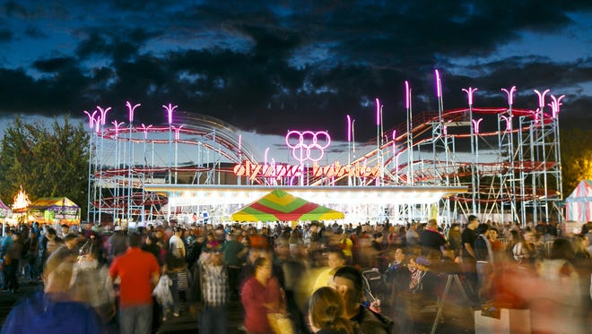 Oregon State Fair welcomes its first roller coaster since 1967 in 2016. Called the Olympic Bobsled, the 70-foot tall ride took a crane and nearly a week to assemble.