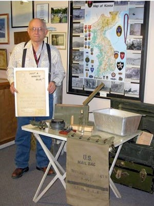 Don Williamson, a retired librarian and antique collector, has generously donated many items of military significance to the Deming-Luna-Mimbres Museum. Williamson also serves as the museum's archivist. The donated artifacts will be on display in the museum's Military Room.  The museum is open for regular hours from 9 a.m. to 4 p.m., Monday through Saturday and closed Thanksgiving Day and Christmas Day.