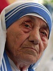 Mother Teresa, who will be canonized Sunday in Rome,