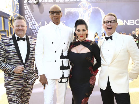 Ross Mathews,RuPaul Charles,Michelle Visage,Carson Kressley