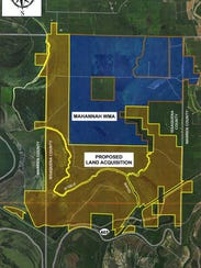 The proposed land acquisition borders Mahannah Wildlife