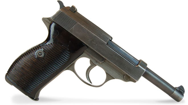A 1945 Walther P-38 Nazi Waffen Grey Ghost.