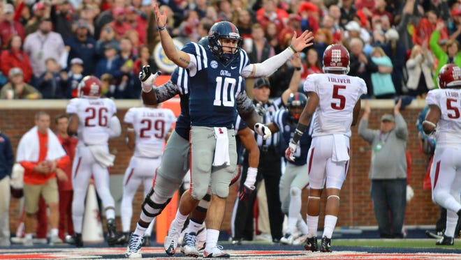 "Ole Miss quarterback Chad Kelly is looking to ""let it loose"" despite recent troubles with interceptions."