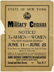 The New York State Legislature on March 29, 1917, authorized Gov. Charles Whitman to carry out a census, requiring the registration of all men and women between the ages of 16 and 50. When Congress enacted the Selective Service System, 2,917,909 names of New York men were forwarded to Washington.