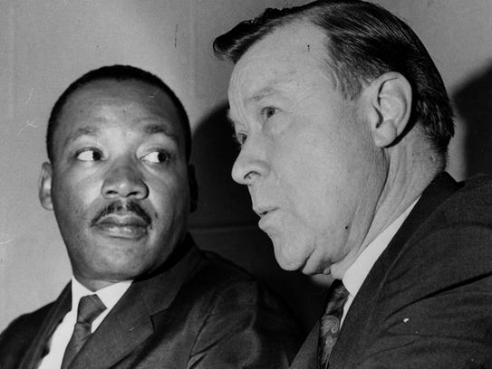 Dr. King and  Walter Reuther talk on June 19, 1966,