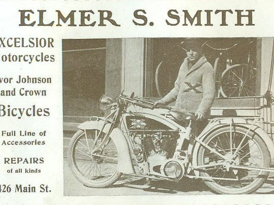 Elmer Smith of Richmond sold motorcycles at 426 Main
