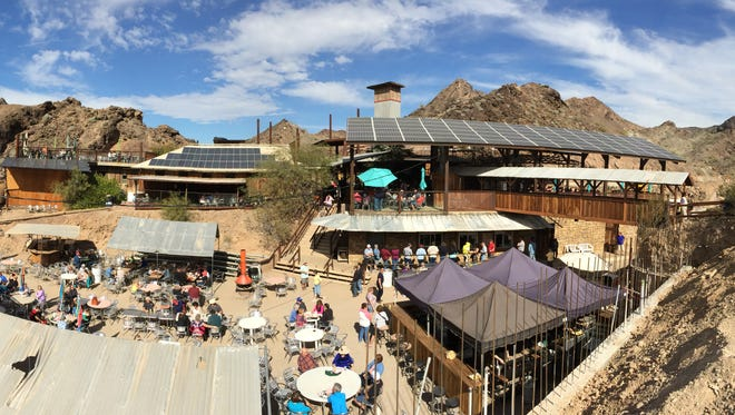The Desert Bar was built atop a former mining claim. The camp sat at what now is the bar's parking lot.