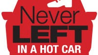 NeverLeft in a Hot Car logo. #NeverLeft