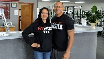 Gabe and Lorraine Dominguez at Gabe's Fitness, 705 E. Pine St.