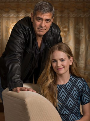 George Clooney and Britt Robertson star in 'Tomorrowland.'