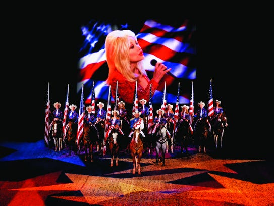 A patriotic performance at Dolly Parton's Dixie Stampede