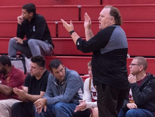 Tulare Union boys basketball head coach Mark Hatton