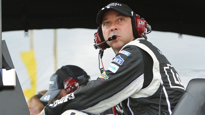NASCAR Sprint Cup Series crew chief Chad Knaus during the Party in the Poconos 400 at Pocono Raceway.