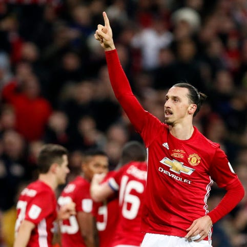 After League Cup win, Jose Mourinho hopes Zlatan Ibrahimovic stays at Manchester United