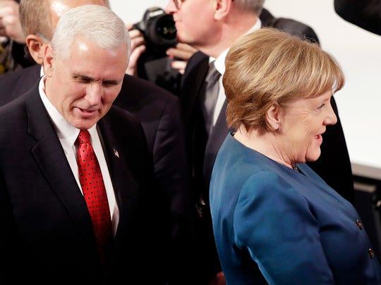 German Chancellor Angela Merkel (right) and Vice President