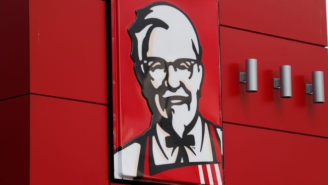 A KFC sign in Doral, Fla.