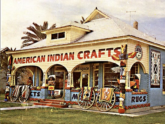 Now home to the Tempe Community Council, the historic B.B. Moeur house was the site of Byron Hunter's American Indian Crafts store between 1963 and 1983.