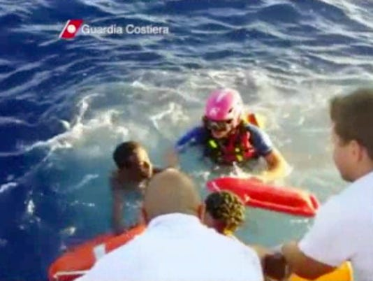 Italian Coast Guard Rescues Survivor