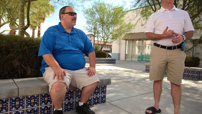 After two-and-a-half years, Jule's Market in La Quinta is closing. Longtime friends James Terrell, left, and Jeremy Cullifer opened Jule's on the northeast corner of Calle Tampico and Desert Club Drive in 2015, hoping to fill a need for a grocery store in the La Quinta cove after Ralphs and Fresh & Easy closed.