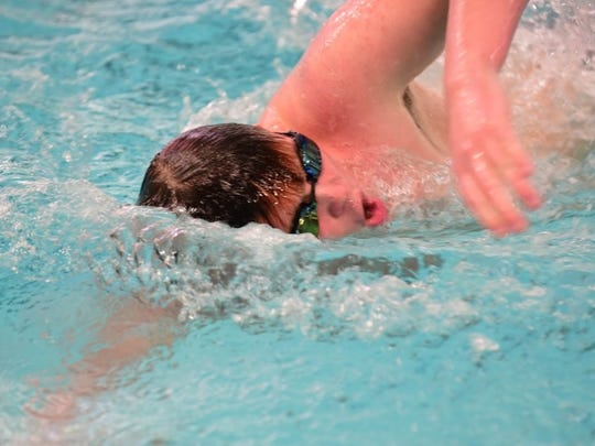 Franklin's Patrick Selix slices through the water during