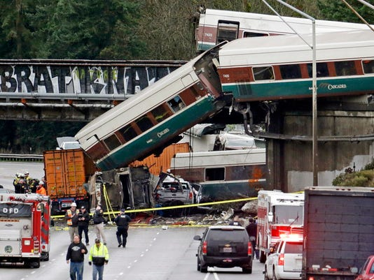 AP TRAIN DERAILMENT WASHINGTON STATE A FILE USA WA