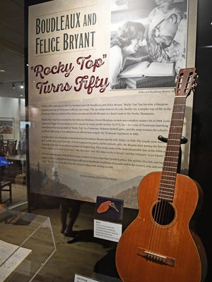 "An exhibit at the Country Music Hall of Fame and Museum displays Boudleaux Brant's 1961 Martin O-16NY that he used to write ""Rocky Top."" The song ""Rocky Top"" turns 50 this year."