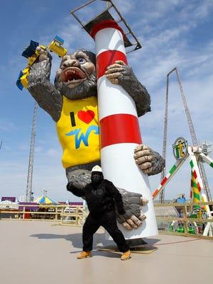 King Kong is ready to lord over the Wildwood boardwalk this summer.