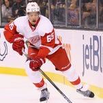 Danny DeKeyser of the Detroit Red Wings skates against the Boston Bruins on Nov. 14, 2015, in Boston.